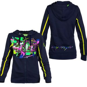 VALENTINO ROSSI WOMENS PAINTED 46 HOODIE 2016