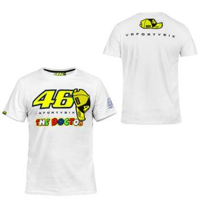 VALENTINO ROSSI 46 MENS THE DOCTOR WHITE TSHIRT 2016