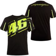 V. ROSSI MENS NO 46 BLACK TSHIRT 2016