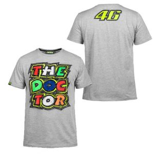 V. ROSSI MENS 46 THE DOCTOR GREY MARLE TSHIRT 2016