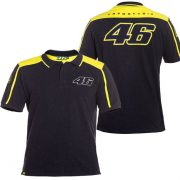 V. ROSSI 46 MENS BLACK/YELLOW POLO 2016