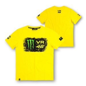 VALENTINO ROSSI MENS MONSTER T-SHIRT YELLOW 2015