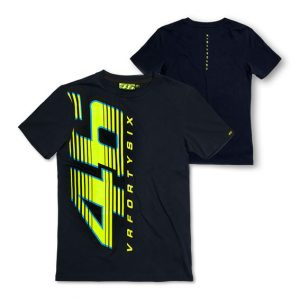 VALENTINO ROSSI MENS 46 T-SHIRT BLUE 2015
