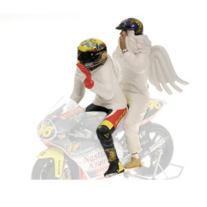 FIGURINE V ROSSI WITH ANGEL GP 250 RIO 1999