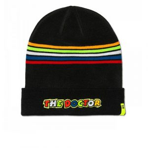 VRMBE305104_VALENTINO_ROSSI_ADULTS_46_THE_DOCTOR_BEANIE_BLACK_BV
