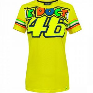 VRWTS307001_VALENTINO_ROSSI_LADIES_THE_DOCTOR_46_TSHIRT_YELLOW