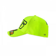 VRKCA353328_VR46 CLASSIC-46 THE DOCTOR 19 CAP KID FLURO YELLOW_LHS