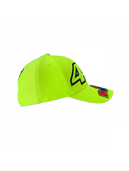 VRKCA353328_VR46 CLASSIC-46 THE DOCTOR 19 CAP KID FLURO YELLOW_RHS