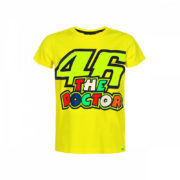 VRKTS353401001_VR46 CLASSIC-46 THE DOCTOR 19 TSHIRT KID YELLOW