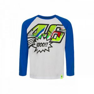 VRKTS353606001_VR46 CLASSIC-POP ART 19 TSHIRT KID WHITE
