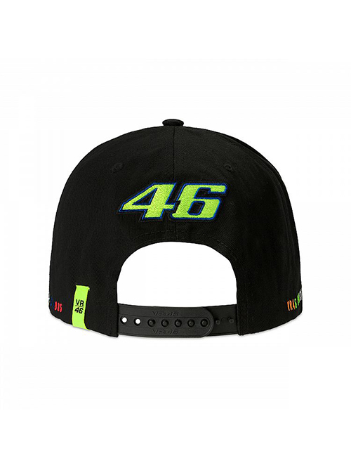 VRMCA350004_VR46 CLASSIC-STRIPES 19 CAP MAN BLACK_BV