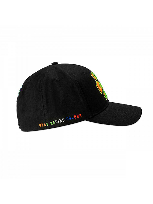 VRMCA350004_VR46 CLASSIC-STRIPES 19 CAP MAN BLACK_RHS