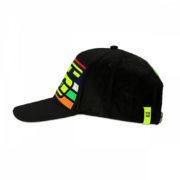 VRMCA350204_VR46 CLASSIC-STRIPES 19 CAP MAN BLACK_LHS