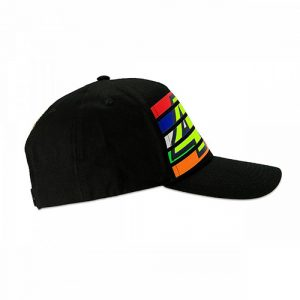 VRMCA350204_VR46 CLASSIC-STRIPES 19 CAP MAN BLACK_RHS