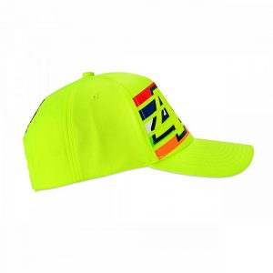 VRMCA350228_VR46 CLASSIC-STRIPES 19 CAP MAN FLURO YELLOW_RHS