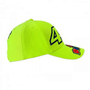 VRMCA351428_VR46 CLASSIC-46 THE DOCTOR 19 CAP MAN FLURO YELLOW_RHS