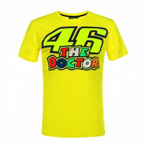 VRMTS351501_VR46 CLASSIC-46 THE DOCTOR 19 TSHIRT MAN YELLOW