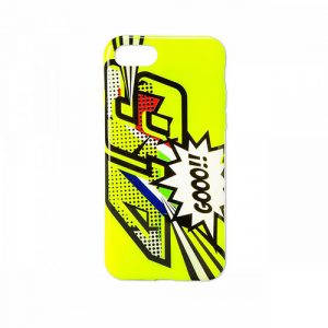 VRUCO355028_VR46 CLASSIC-POP ART 19 COVER UNISEX FLURO YELLOW