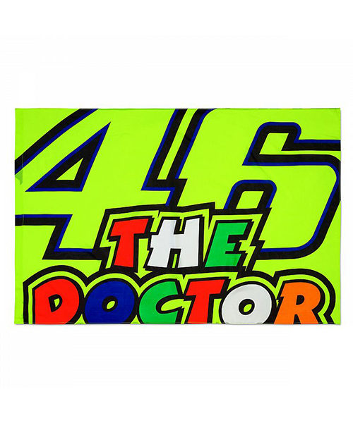VRUFG355303_VR46 CLASSIC-46 THE DOCTOR 19 FLAG UNISEX MULTI