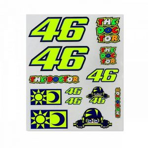VRUST356803_VR46 CLASSIC LARGE STICKER SET