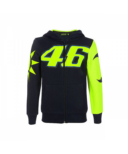 VRKFL353102001_VR46 CLASSIC-SOLE E LUNA 19 FLEECE KID BLUE