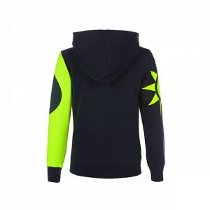 VRKFL353102001_VR46 CLASSIC-SOLE E LUNA 19 FLEECE KID BLUE_BV