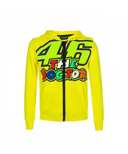 VRKFL353501001_VR46 CLASSIC-46 THE DOCTOR 19 FLEECE KID YELLOW