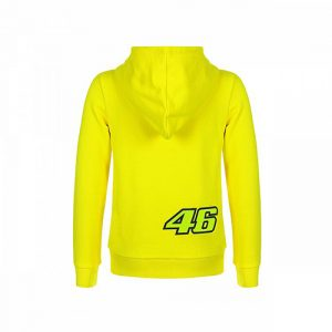 VRKFL353501001_VR46 CLASSIC-46 THE DOCTOR 19 FLEECE KID YELLOW_BV